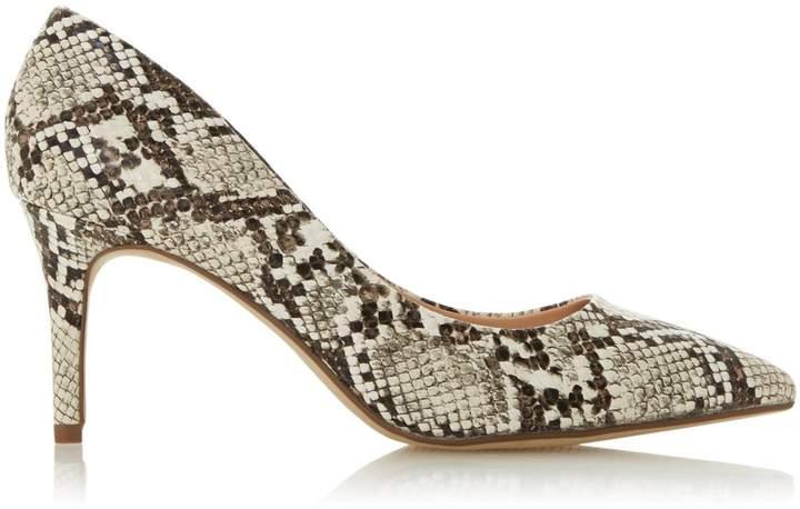 2c4ff65d487 Womens *Head Over Heels By Dune Multi Colour Snake Print 'Aisla' Court Shoes