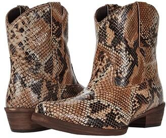 Roper Dusty Python (Printed Python Leather Vamp) Cowboy Boots