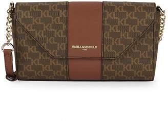 Karl Lagerfeld Paris Logo Print Crossbody Bag