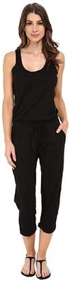 Michael Stars Cotton Modal Tank Jumpsuit (Black) Women's Jumpsuit & Rompers One Piece