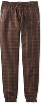L.L. Bean Signature Wool Pull-On Pants, Plaid