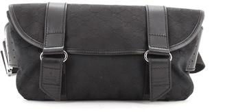 Gucci Vintage Flap Waist Bag GG Canvas Medium