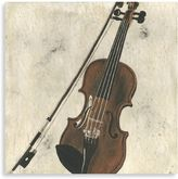 Bed Bath & Beyond Violin and Bow Printed Canvas
