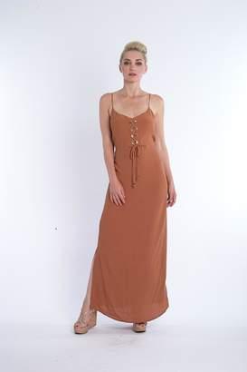 Kasha Rust Maxi Dress