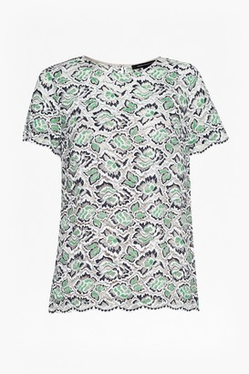 French Connection Boccara Boxy Lace T-Shirt