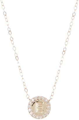 Ron Hami 14K Yellow Gold Pendant Initial Chain Necklace