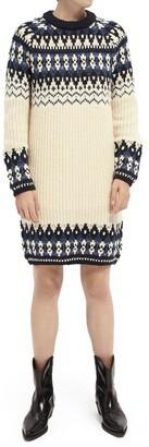 Scotch & Soda Long Sleeve Fair Isle Sweater Dress