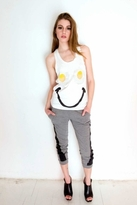 Sauce Egg Eyes Racer-Back Tank in White