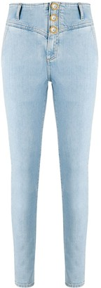 Alessandra Rich High-Rise Skinny Jeans