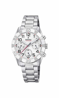Festina Unisex Child Chronograph Quartz Watch with Stainless Steel Strap F20345/1