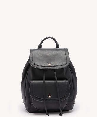 Sole Society Women's Lacie Backpack Vegan Leather Shoulder Black One Size From