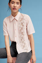 Tracy Reese Floral Lace Panel Blouse