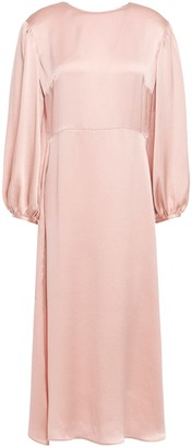 Mansur Gavriel Hammered-silk Midi Dress