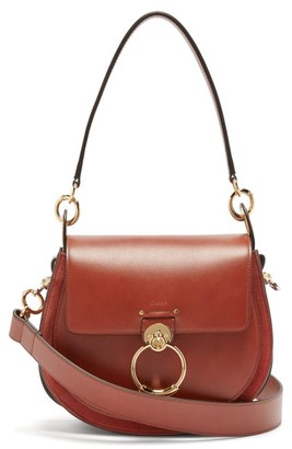 Chloé Tess Small Leather Cross-body Bag - Womens - Brown