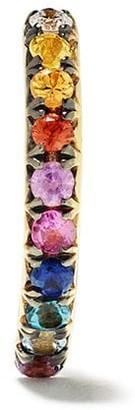Ana Khouri 18kt yellow gold Norah rainbow sapphire single earring