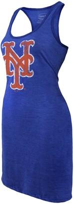 Majestic Women's Threads Royal New York Mets Tri-Blend Racerback Sleeveless Dress