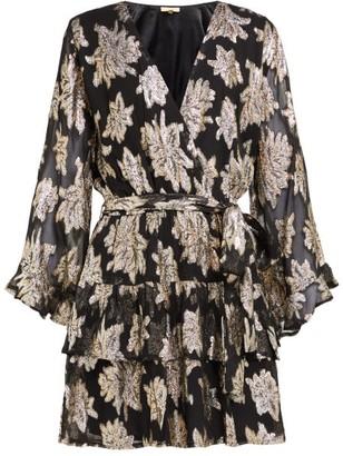 Melissa Odabash Look 8 Floral Fil Coupe Chiffon Mini Dress - Womens - Black