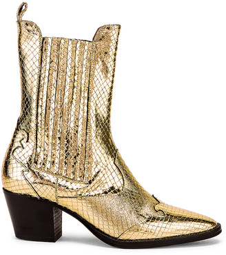 Paris Texas Atlanta Metallic Beatles Boot in Gold | FWRD