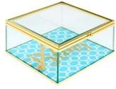 American Atelier Glass Jewelry Box - Blue