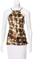 Just Cavalli Abstract Printed Low Back Top