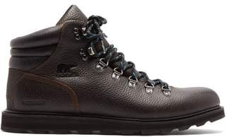 Sorel Madison Grained Leather Hiking Boots - Mens - Dark Brown