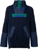 Sacai colour block cagoule - men - Cotton/Polyester/nylon -12 - I