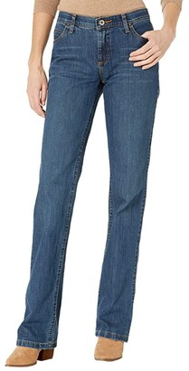 Wrangler Q-Baby Mid-Rise Bootcut Jeans (Mid Wash 2) Women's Jeans