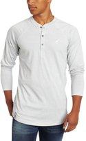 Lrg Men's Core Collection Long Sleeve Raglan Henley Shirt