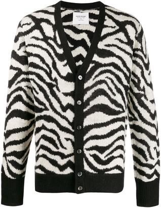 Noon Goons Zebra pattern knit cardigan