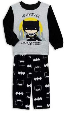 AME Sleepwear Little Boy's 2-Piece Batman Pajama Top & Pants Set