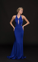 Glow by Colors - G774 Halter Cutout Bodice Faille Gown