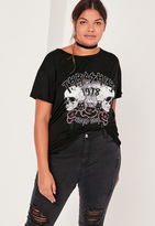Missguided Plus Size Thrasher Band T Shirt Black