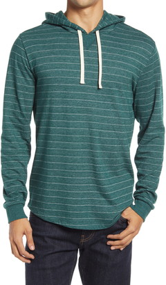 Marine Layer Stripe Double Knit Pullover Hoodie
