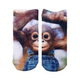 Living Royal - Monkeying Around Ankle Socks