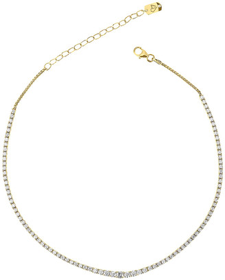Carbon & Hyde Graduated Tennis Choker in 14K Yellow Gold | FWRD