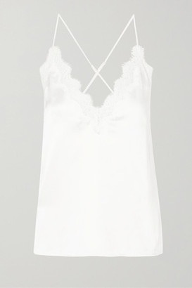 CAMI NYC The Everly Lace-trimmed Silk-charmeuse Camisole - White