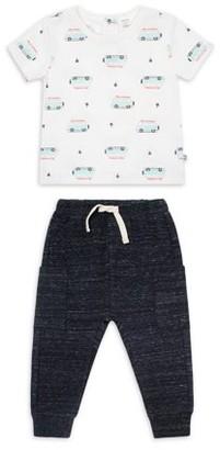 Petit Lem Baby Boy T-Shirt and Pants Outfit Set, 2pc