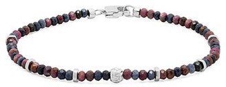 Tateossian Beaded Sterling Silver Bracelet