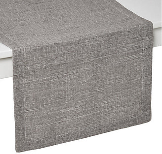 """Tribeca Table Runner - Gray/Silver - Mode Living - 90""""L x 16""""W"""