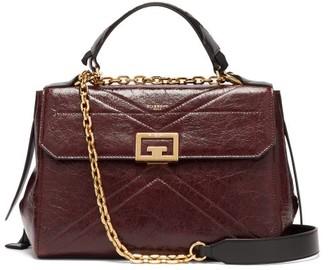 Givenchy Creased Leather Medium Shoulder Bag - Burgundy