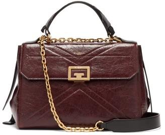 Givenchy Creased Leather Medium Shoulder Bag - Womens - Burgundy