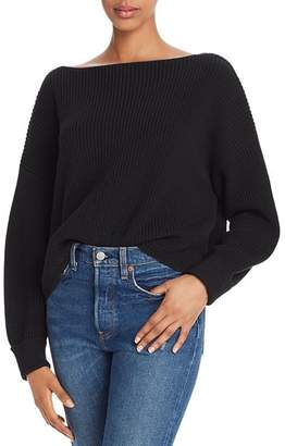 French Connection Millie Mozart Knits Cotton Boat Neck Sweater