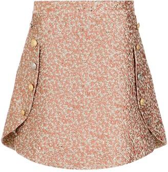 Olympiah textured mini skirt