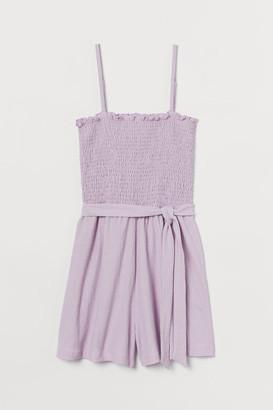 H&M Smocked Romper - Purple
