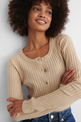 NA-KD Recycled Ribbed Knitted Cardigan