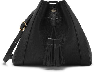 Mulberry Small Millie Tote Black Heavy Grain