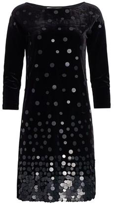 Joan Vass Velvet Sequin Dress