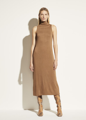 Vince Sleeveless Mock Neck Dress