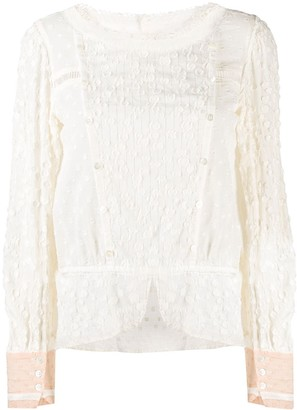 Tsumori Chisato Embroidered Long-Sleeved Blouse