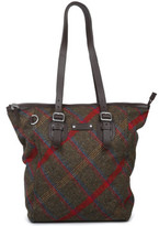 Hunter Check Tote Womens Chocolate Handbag Brown